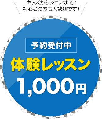 体験レッスン1000円